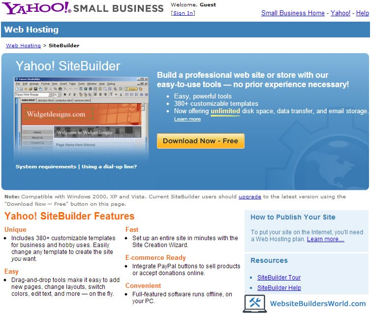 Good yahoo sitebuilder templates images how to create drop for Yahoo sitebuilder templates