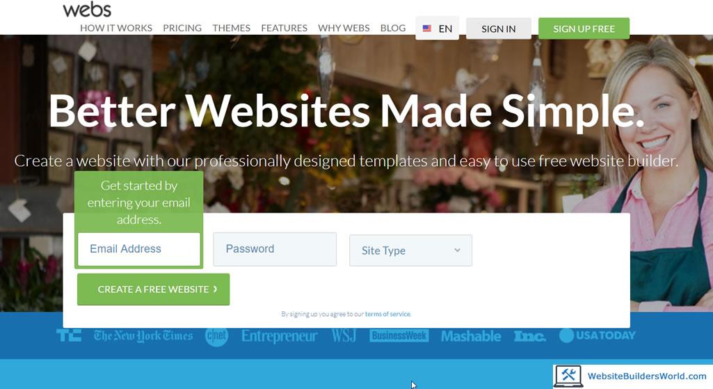 webs website builder